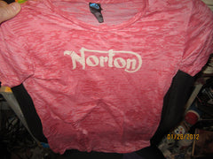 Norton Motorcycles Logo Vintage Fit T Shirt Ladies XL