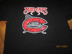 Carolina Mudcats Logo Black T Shirt XL