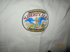 Anchor Steam Liberty Ale Embroidered Logo Golf Shirt Medium Beer