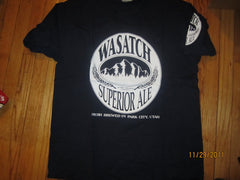 Wasatch Brewerry Superior Ale T Shirt XL Park City Utah
