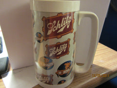 Schlitz Beer Vintage Multiple Logo Large Plastic Mug By Thermos