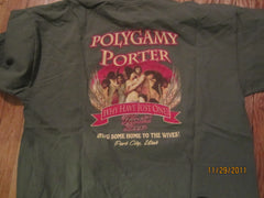 Wasatch Brewery Park City Utah Ploygamy Porter T Shirt XL