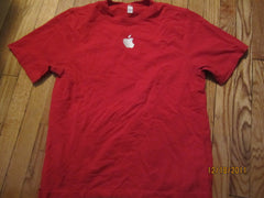 Apple Embroidered Logo Red T Shirt Medium