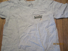 Seinfeld Embroidered Logo Grey T Shirt Large
