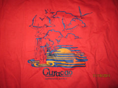Curacao Netherlands Antilles Vintage Red T Shirt Large