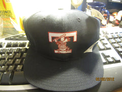 Toledo Mudhens Classic Old Logo Navy Snapback Hat By DeLong