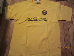 Club America Soccer Team Mexico Logo T Shirt Large