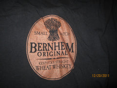 Bernheim Kentucky Small Batch Wheat Whiskey Logo Black T Shirt XL