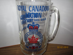 Royal Canadian Legion #255 Windsor Ontario 1974 Heavyweight Glass Beer Mug