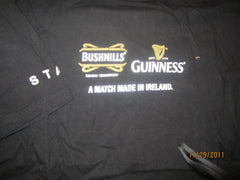 "Guinness & Bushmills ""Staff"" T Shirt Medium Ireland Beer Whiskey"