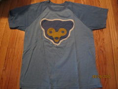 Chicago Cubs Cubbie Bear Logo Raglan T Shirt Large