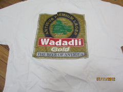 Wadadli Gold Lager Beer T Shirt XL Antigua