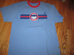 "Chicago Cubs Old ""Cubbie"" Logo Ringer T Shirt Medium Nike"