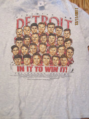 Detroit Red Wings 1996 Playoffs T Shirt Large