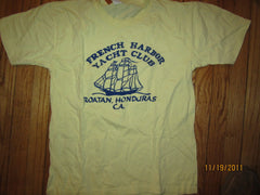 French Quarter Yacht Club Roatan Honduras Vintage T Shirt Large