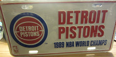 Detroit Pistons 1989 NBA World Champs Metal License Plate Sealed