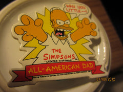 The Simpsons Homer Simpson 2 1/4 Inch Cardboard Pin 1990