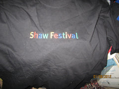 Shaw Festival Canada Embroidered Logo T Shirt Large New