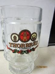 Thorbrau Augsburg Heavyweight German 0.5ltr Glass Beer Stein
