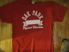 Oak Park Michigan Phys Ed Red T Shirt Large Michigan Detroit Area