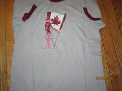 Pink Panther With Canadian Flag Vintage 80's Ringer T Shirt Large