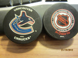 Vancouver Canucks Newer Logo Official Puck InGlasCo
