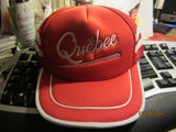 Quebec Canada Red Mesh Trucker Snapback Hat