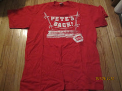Cincinnati Reds 80's Vintage Pete's Back T Shirt XXL Pete Rose