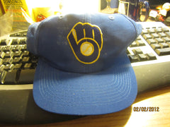 Milwaukee Brewers Old Logo Mesh Snapback Hat Grosscap One Size