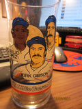 DETROIT TIGERS 1984 Gibson Morris & Lopez Glass Little Caesars