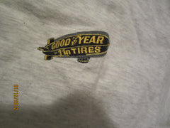 Goodyear Blimp Embroidered Logo Grey T Shirt Large