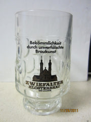Zwiefalter Klosterbrau 400th Year 0.2ltr German Glass Beer Stein