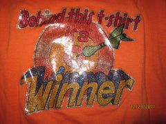 Behind This Shirt Is A Winner Vintage 80's Iron On T Shirt Large