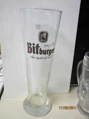 Bitburger Tall German 0.5ltr German Beer Galss By Sohm