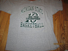 Michigan State Basketball 1990 Big Ten Champions T Shirt XL Champion