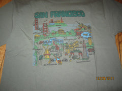 San Francisco Points Of Interest Cartoon T Shirt XL