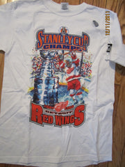 Detroit Red Wings 1998 Stanley Cup Champions T Shirt Kids Large New Starter