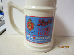 Stroh's Beer Strohaus At 1982 World's Fair Large Beer Stein Knoxville TN