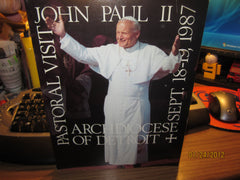 Pope John Paul ll 1987 Detroit Visit Program 80 Pages