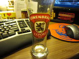 Lowenbrau Export Logo Tall Shell Beer Glass Germany