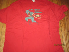 Captain America Logo Red T Shirt XL