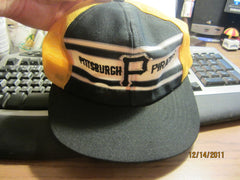 Pittsburgh Pirates Vintage Racing Stripe Style Mesh Trucker Snapback Hat