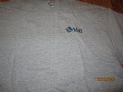 Vail Colorado Embroidered Logo Grey T Shirt XXL