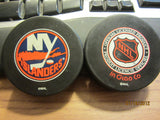 New York Islanders Classic Logo Official Puck InGlasCo