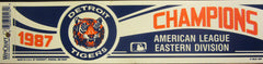 Detroit Tigers 1987 American League East Champs Bumper Sticker