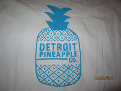 Detroit Pineapple Logo Grey T Shirt XXL Vintage Fit Moosejaw