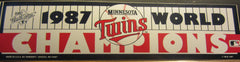 Minnesota Twins 1987 World Series Champions Bumper Sticker Original