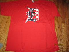 "Detroit Tigers Red White & Blue ""D"" Salute To Military T Shirt XL"