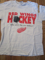 "Detroit Red Wings Hockey ""This Aint The Ice Follies"" T Shirt Medium"