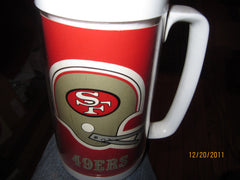 San Francisco 49ers Vintage 6 1/2 Tall Plastic Thermos Mug